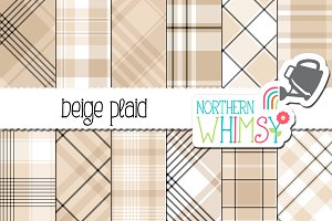 Beige Plaid Patterns