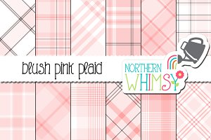 Blush Pink Plaid Pattern