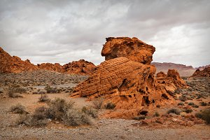 Landscape In Southern Nevada, USA