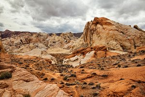 Stone Desert At Valley Of Fire