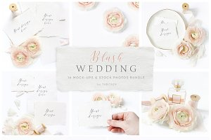 Blush Wedding mockups, stock photos