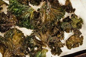 Baked Crispy Kale Chips