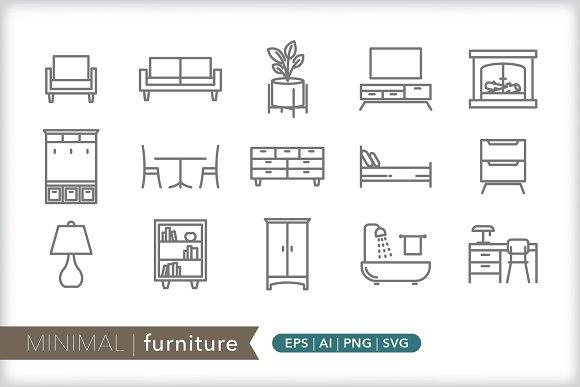 Minimal Furniture Icons