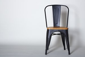 Steel with wood chair