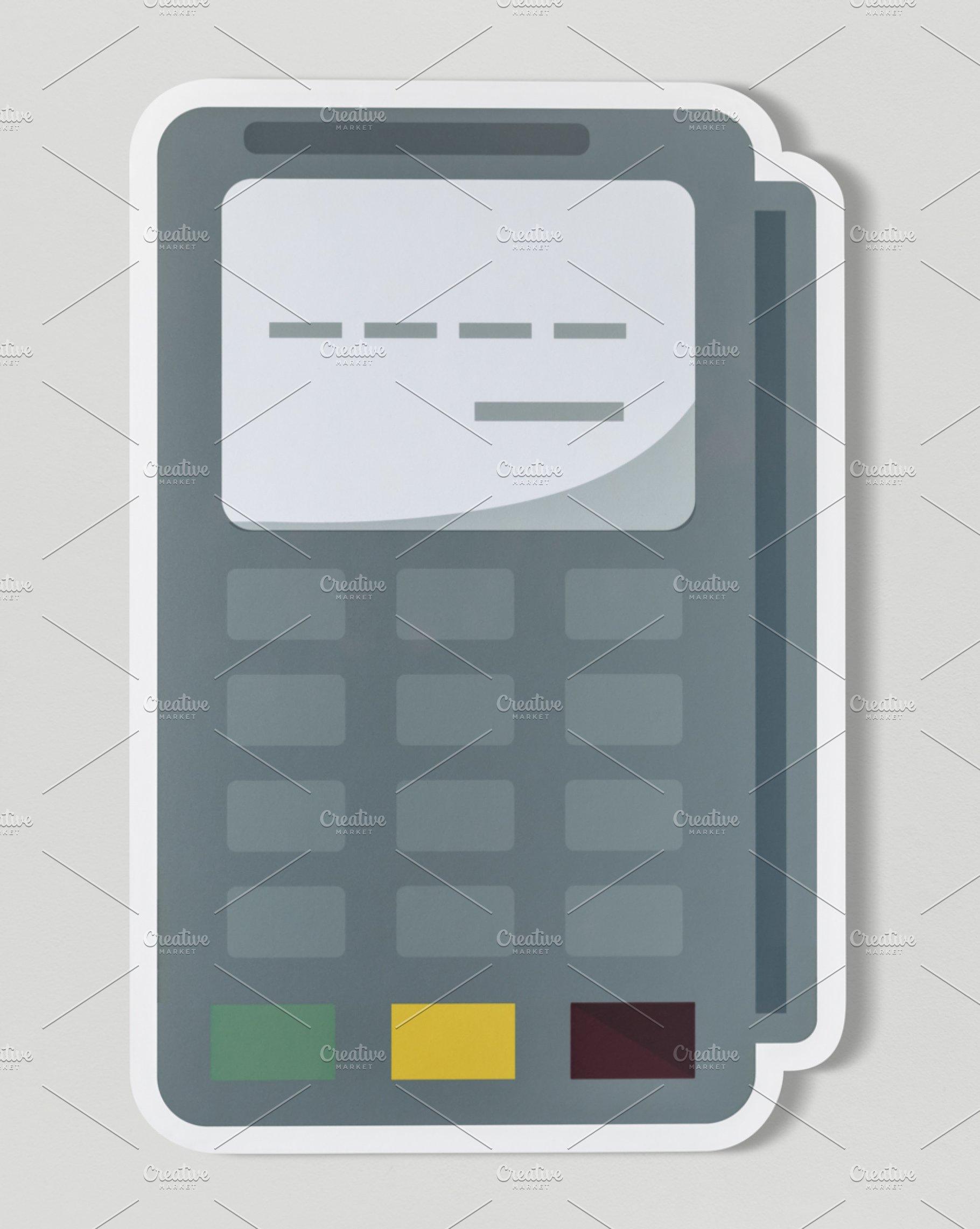 Credit card terminal cut out (PSD)