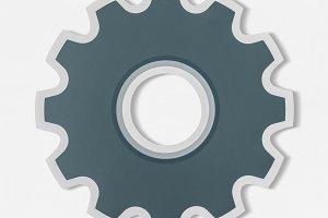 Paper craft of cog wheel (PSD)