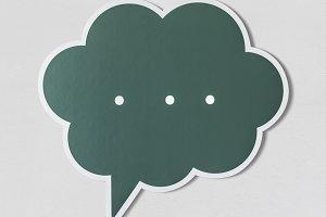 Conversation speech bubble (PSD)