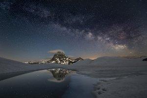 Milky way over Pyrenees