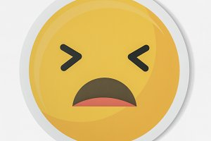 Disappointed emoticon face (PSD)