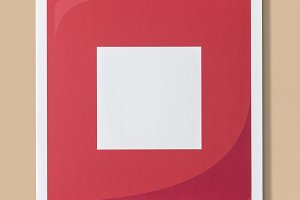 Red stop button music icon (PSD