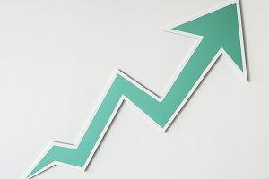 Growth up arrow icon (PSD)
