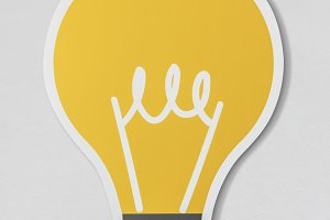Creative light bulb ideas icon (PSD)