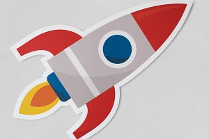 Rocket ship launching symbol (PSD)