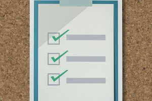 Cut out paper checklist icon (PSD)