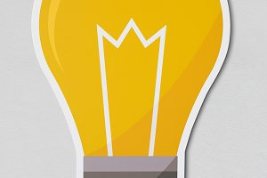 Creative light bulb icon (PSD)