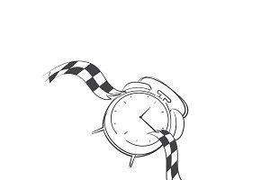 Against the clock idiom vector