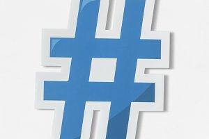 Hashtag digital media feed (PSD)