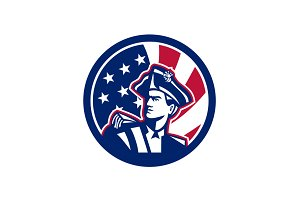 American Patriot USA Flag Icon