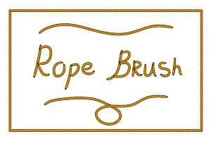 Rope pattern brush for Adobe Ill