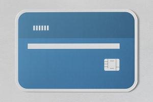 Credit debit bank card icon (PSD)