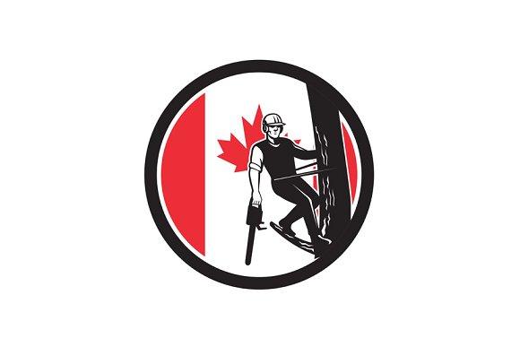 Canadian Tree Surgeon Canada Flag Ic