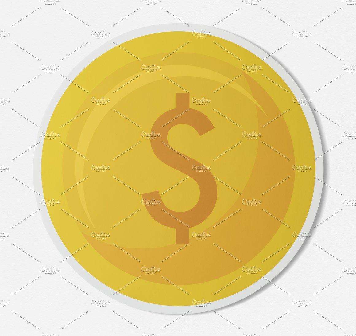 Dollar Coin Currency Exchange Psd Photos Creative Market