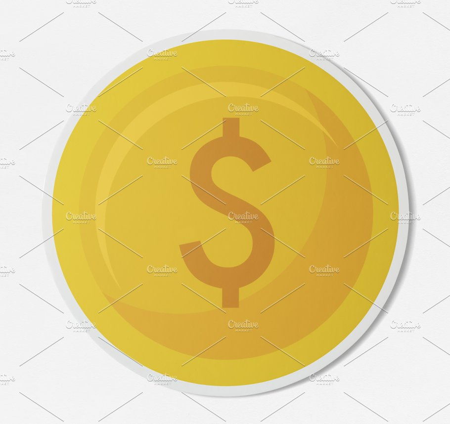 Dollar Coin Currency Exchange Psd Photos Creative Market