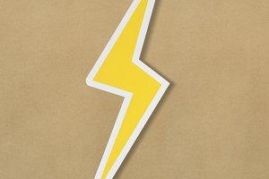 Yellow electric lightning bolt (PSD)