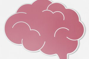 Pink brain creative ideas (PSD)