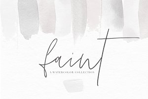 Watercolor Textures - Faint