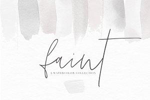 Watercolor Textures - Faint