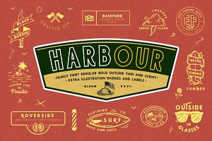 Harbour Font Family & Extra