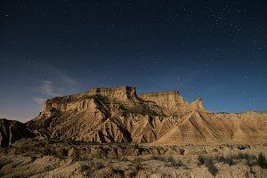 Bardenas desert at night