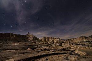 Bardenas desert night