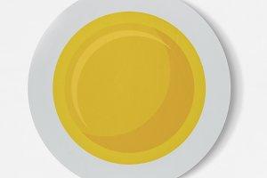 Fried sunny side up egg icon (PSD)