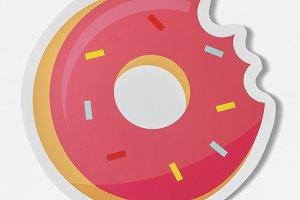 Sweet pink pastry doughnut (PSD)