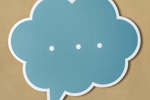 Speech bubble cut out icon (PSD)