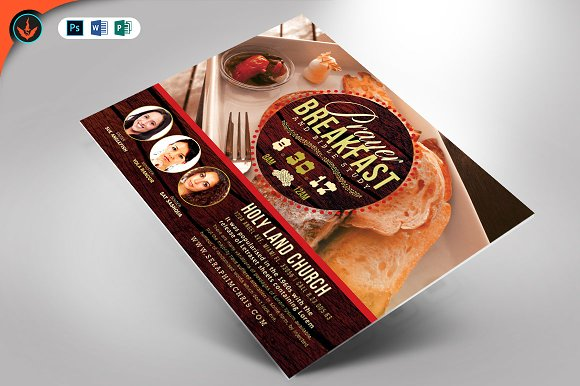 prayer breakfast flyer template flyer templates creative market