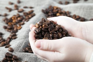 fragrant coffee grains