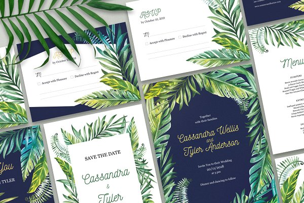 Tropical Day and Night Wedding Suit…