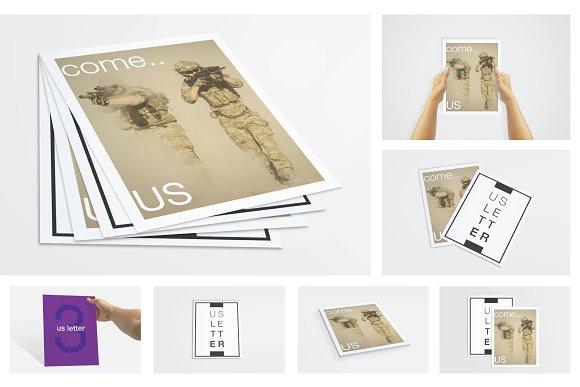 Download US Letter Flyer / Poster Mockups