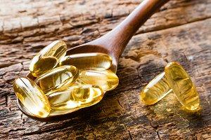 capsules of fish oil