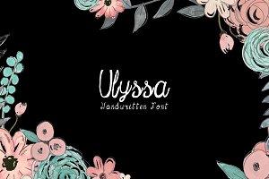 Ulyssa Handwritten Font + Bonus