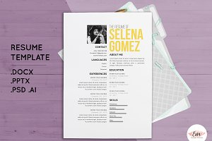Create 1 page resume template