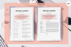 Watercolor Theme Resume Template