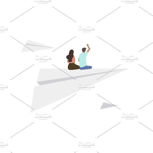 Illustration Of People On Plane
