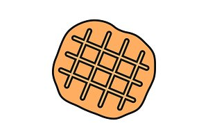 Belgian waffle color icon