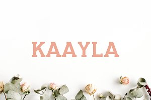 Kaayla Slab Serif Font Pack