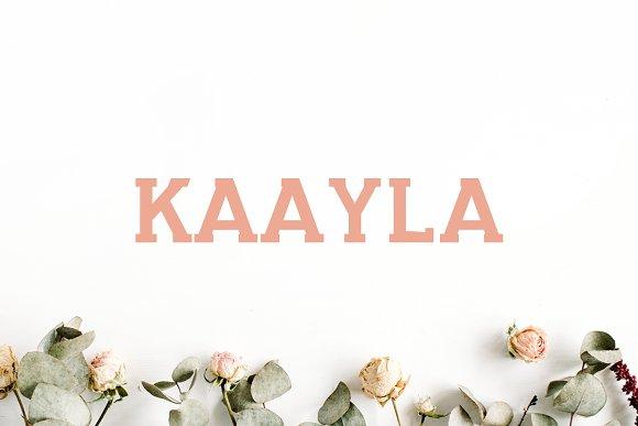 Kaayla Slab Serif 4 Font Pack