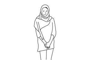 Illustration of islamic woman